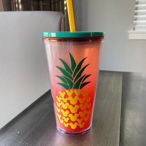 Pineapple Mickey Starbucks cup